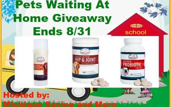 Pets Waiting at Home Giveaway – 8/10 thru 8/31