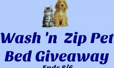 Wash N Zip Pet Bed GIVEAWAY!